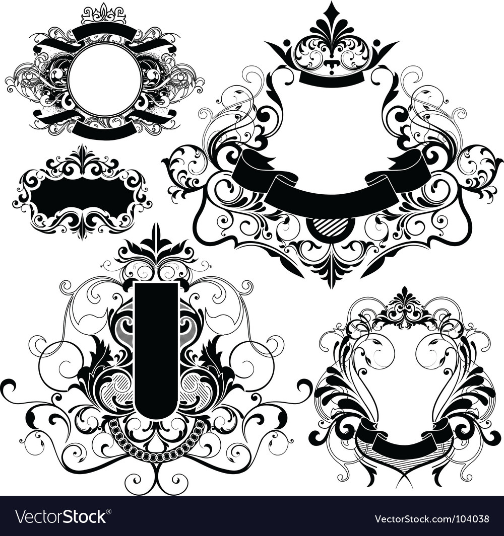 Heraldry graphics vector | Price: 1 Credit (USD $1)