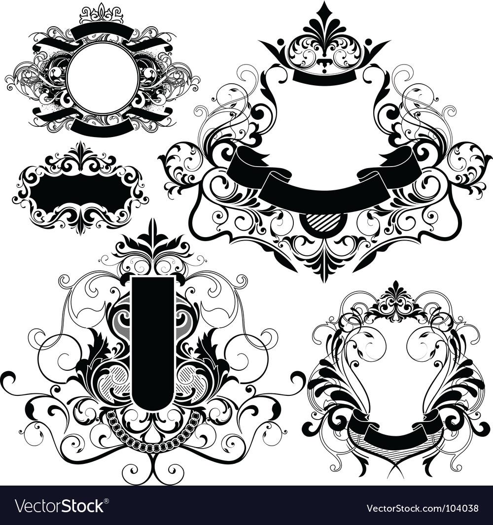 Heraldry graphics vector | Price: 1 Credit (USD $1)