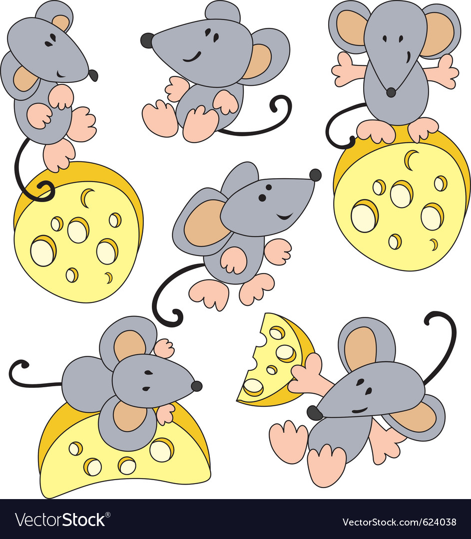 Mouse and cheese vector   Price: 1 Credit (USD $1)