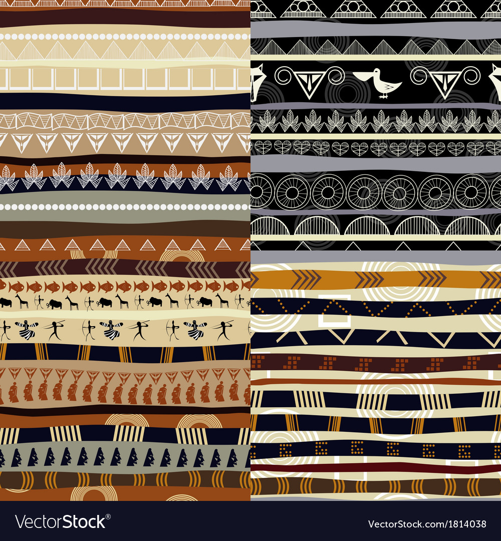 Set of tribal primitive african pattern vector | Price: 1 Credit (USD $1)