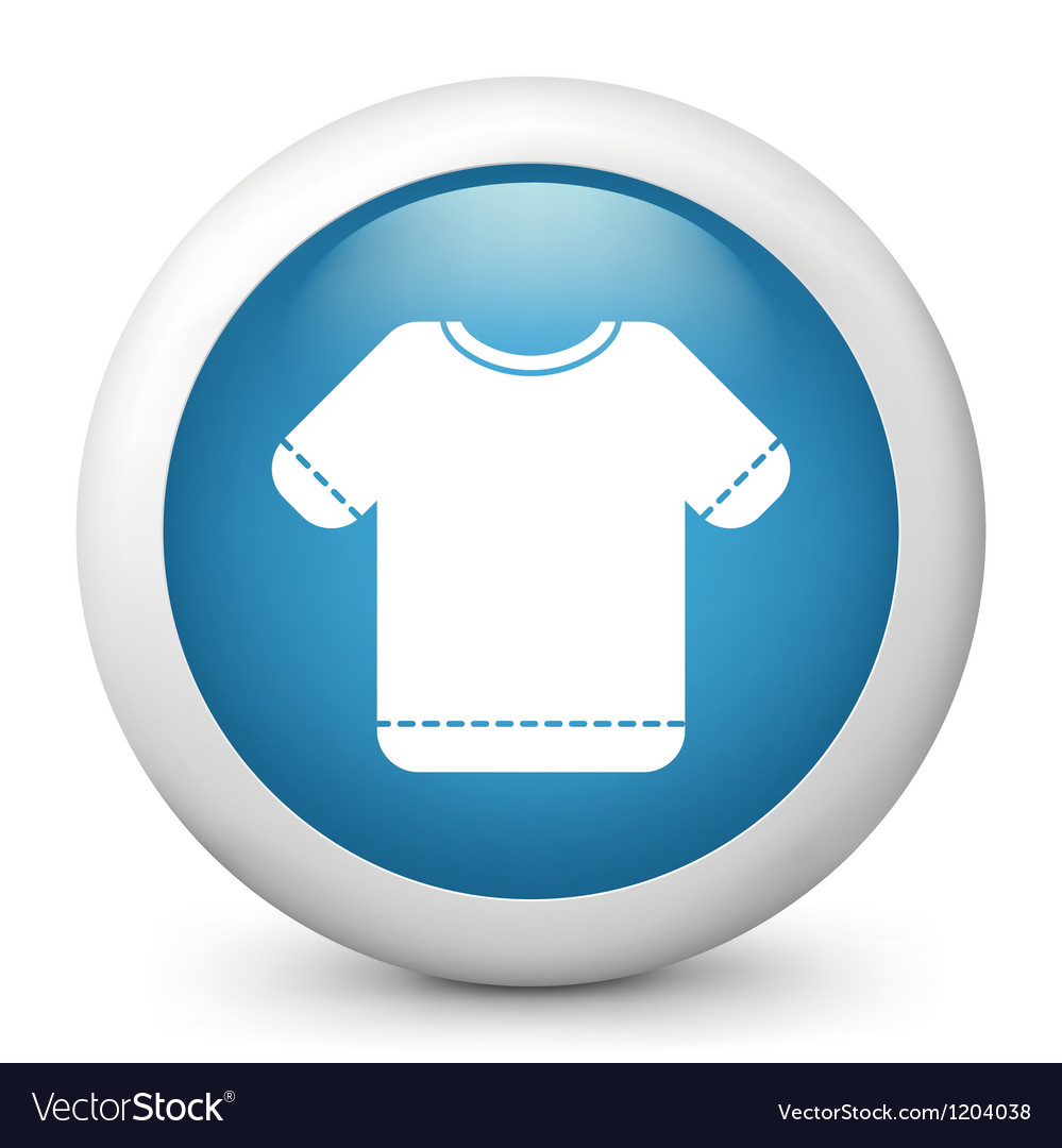 T shirt glossy icon vector | Price: 1 Credit (USD $1)