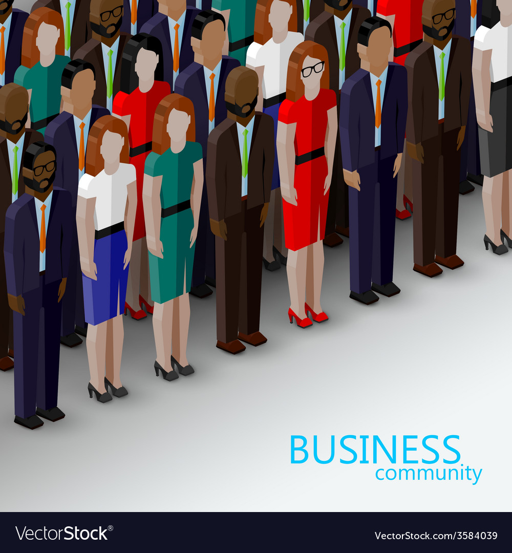 3d isometric of business or politics community a vector
