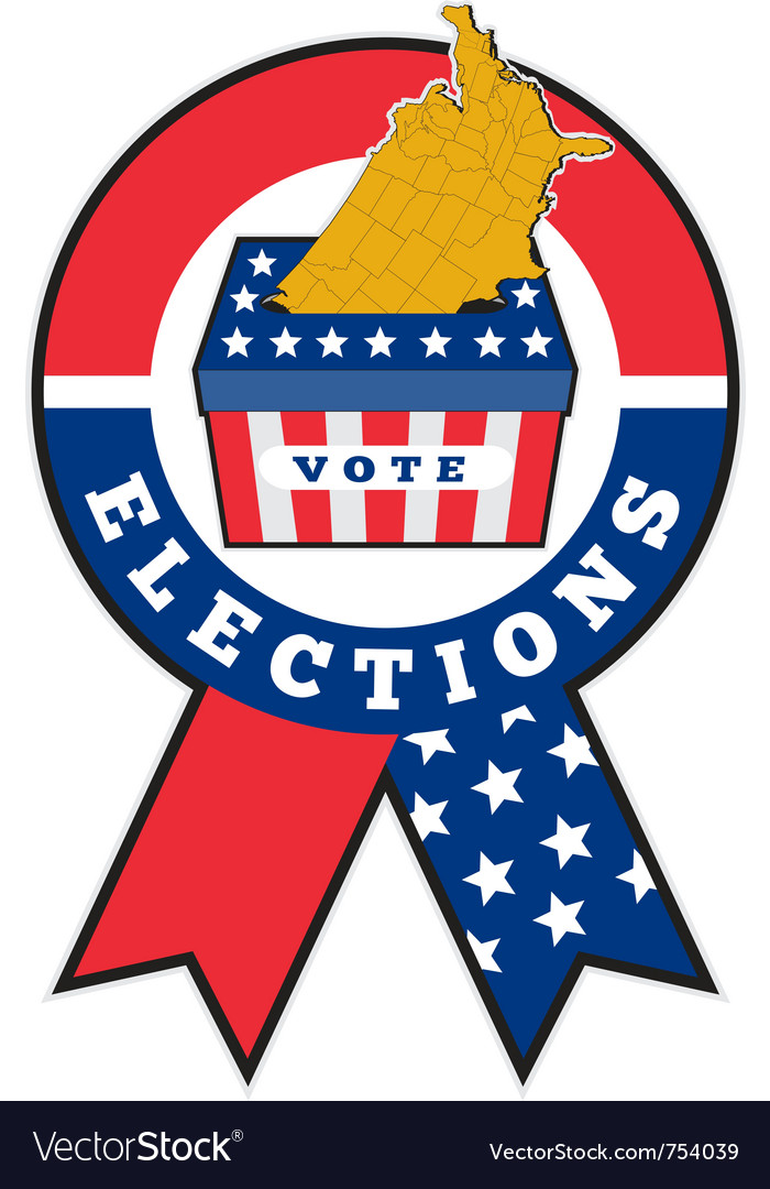 American election ribbon ballot vector | Price: 1 Credit (USD $1)