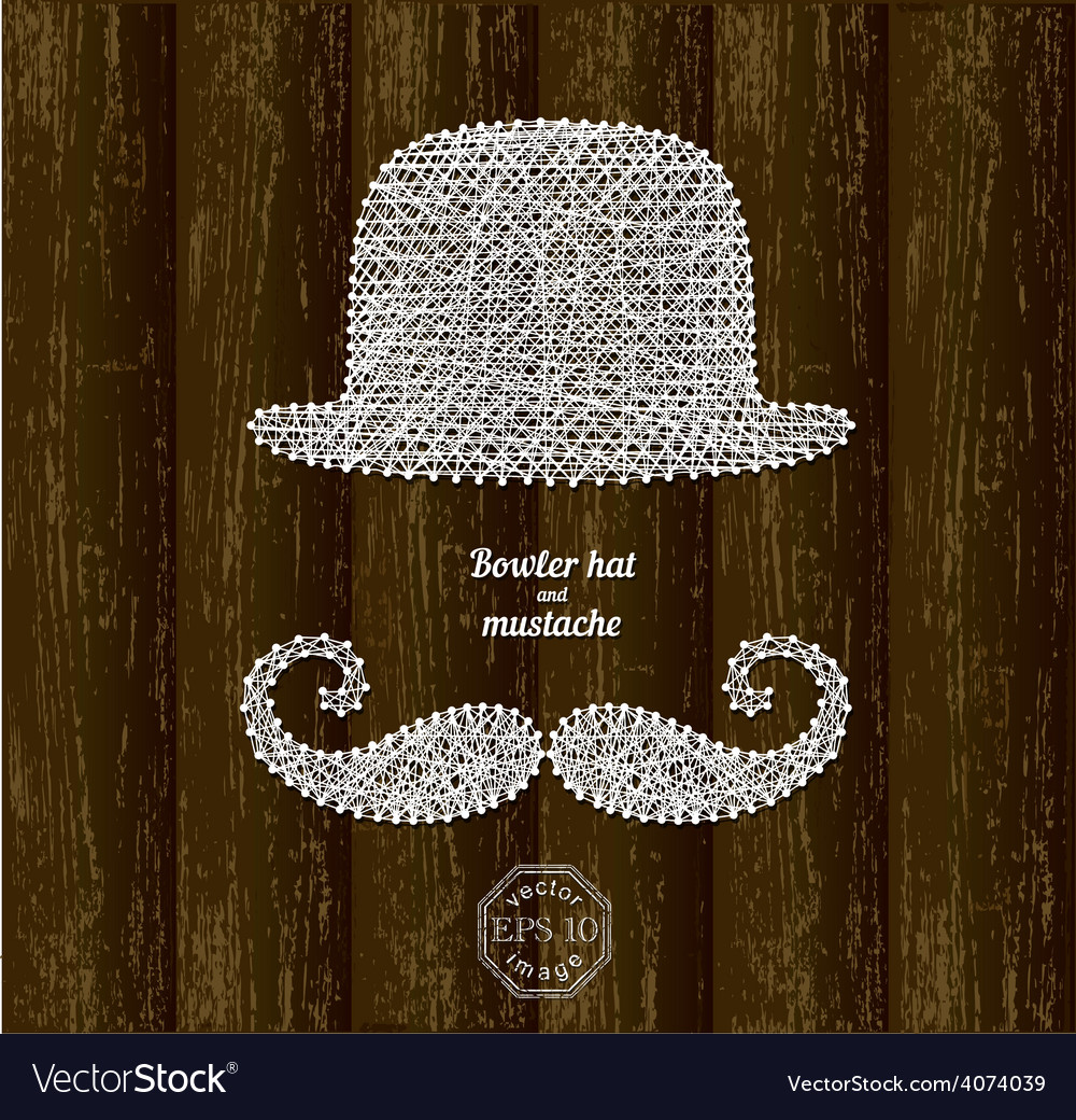 Bowler hat and mustache vector | Price: 1 Credit (USD $1)