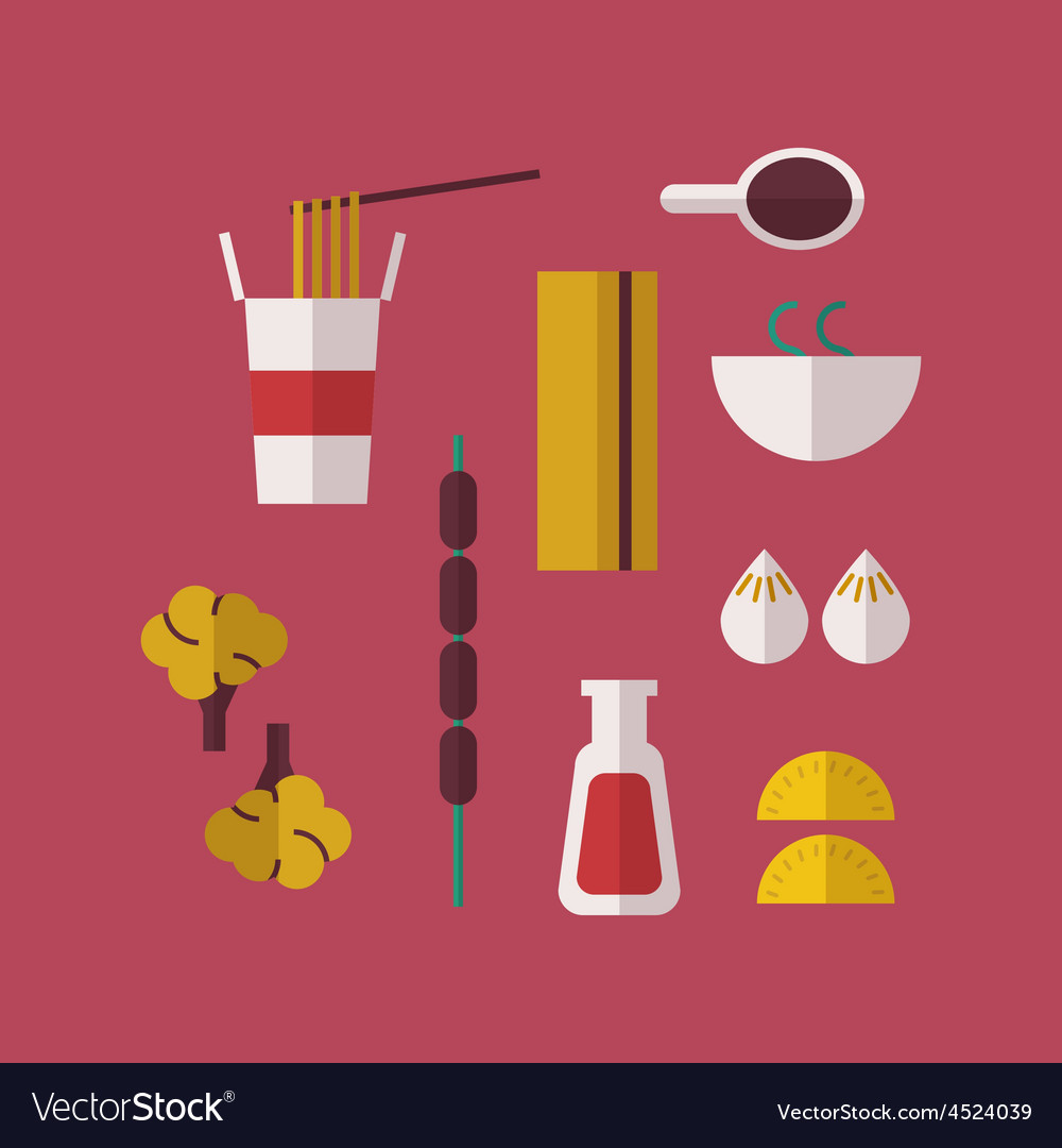 Chinese food vector | Price: 1 Credit (USD $1)