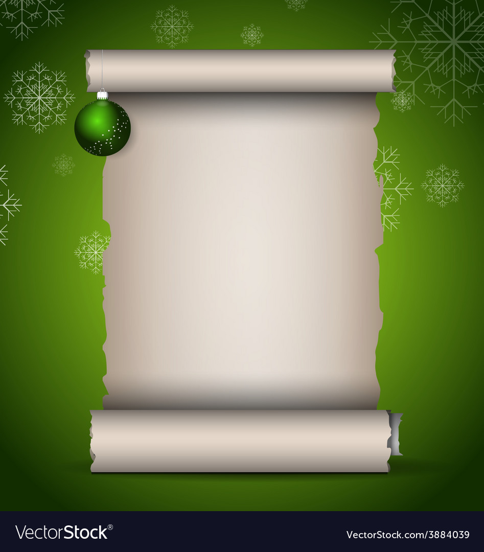 Christmas scroll vector   Price: 1 Credit (USD $1)