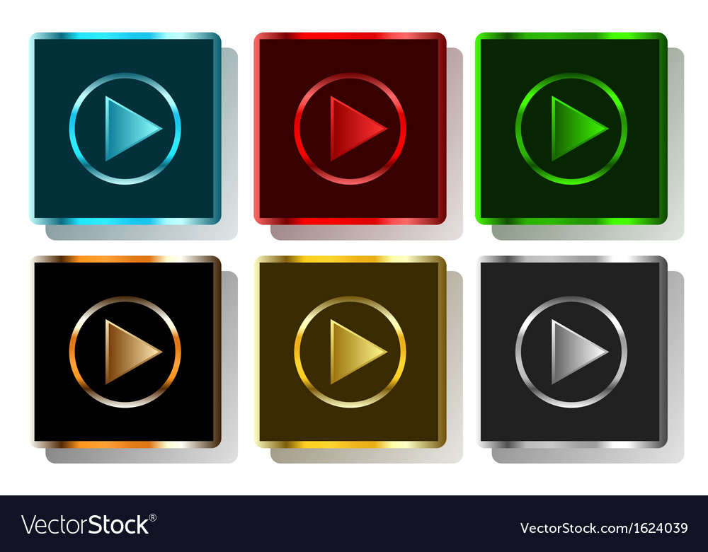 Colorful play button vector | Price: 1 Credit (USD $1)