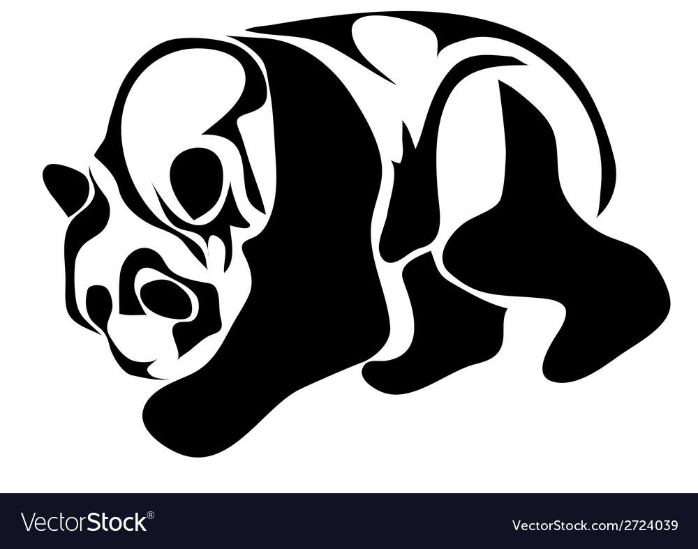 Giant panda vector | Price: 1 Credit (USD $1)