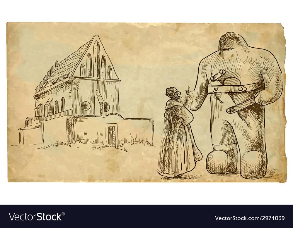 Jewish prague vector | Price: 1 Credit (USD $1)