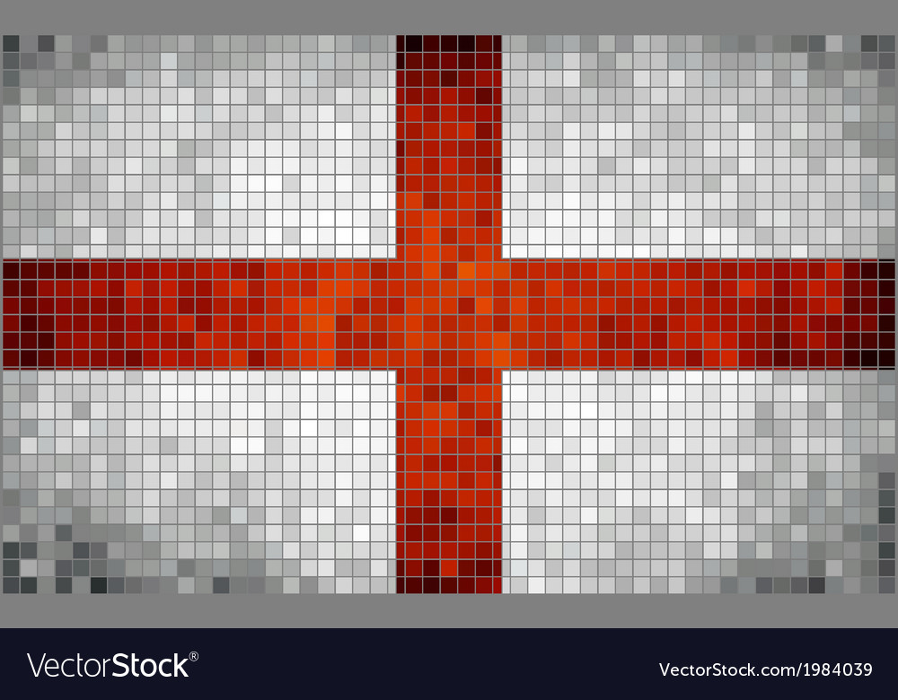 Mosaic flag of england vector | Price: 1 Credit (USD $1)