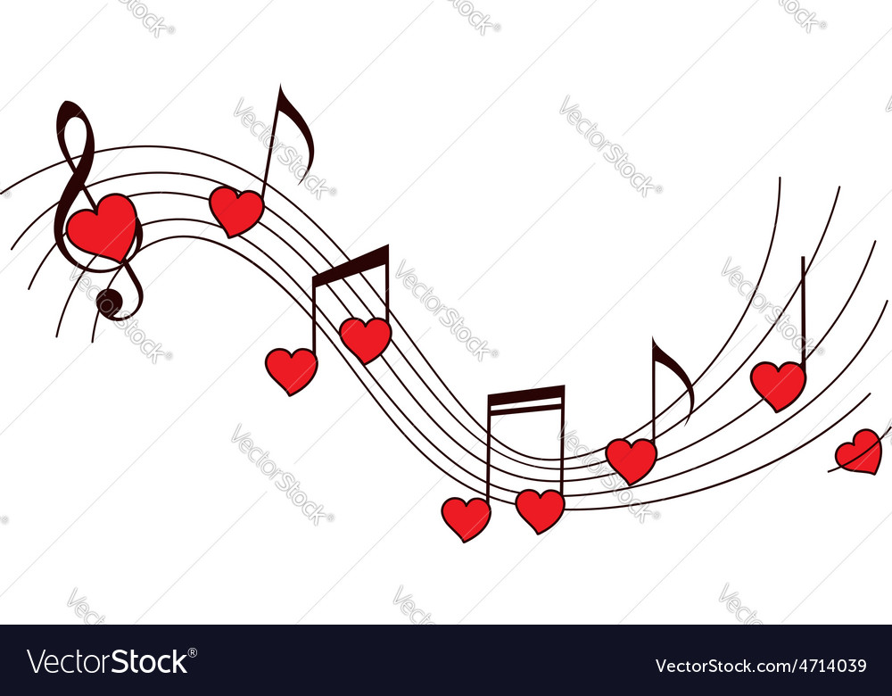 Romantic music background vector | Price: 1 Credit (USD $1)