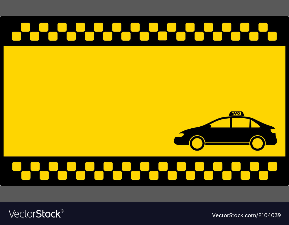 Yellow cab background with taxi car vector | Price: 1 Credit (USD $1)