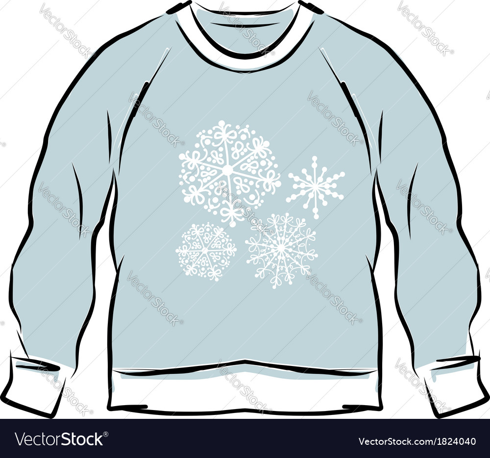 Abstract sweatshirt sketch for your design vector | Price: 1 Credit (USD $1)