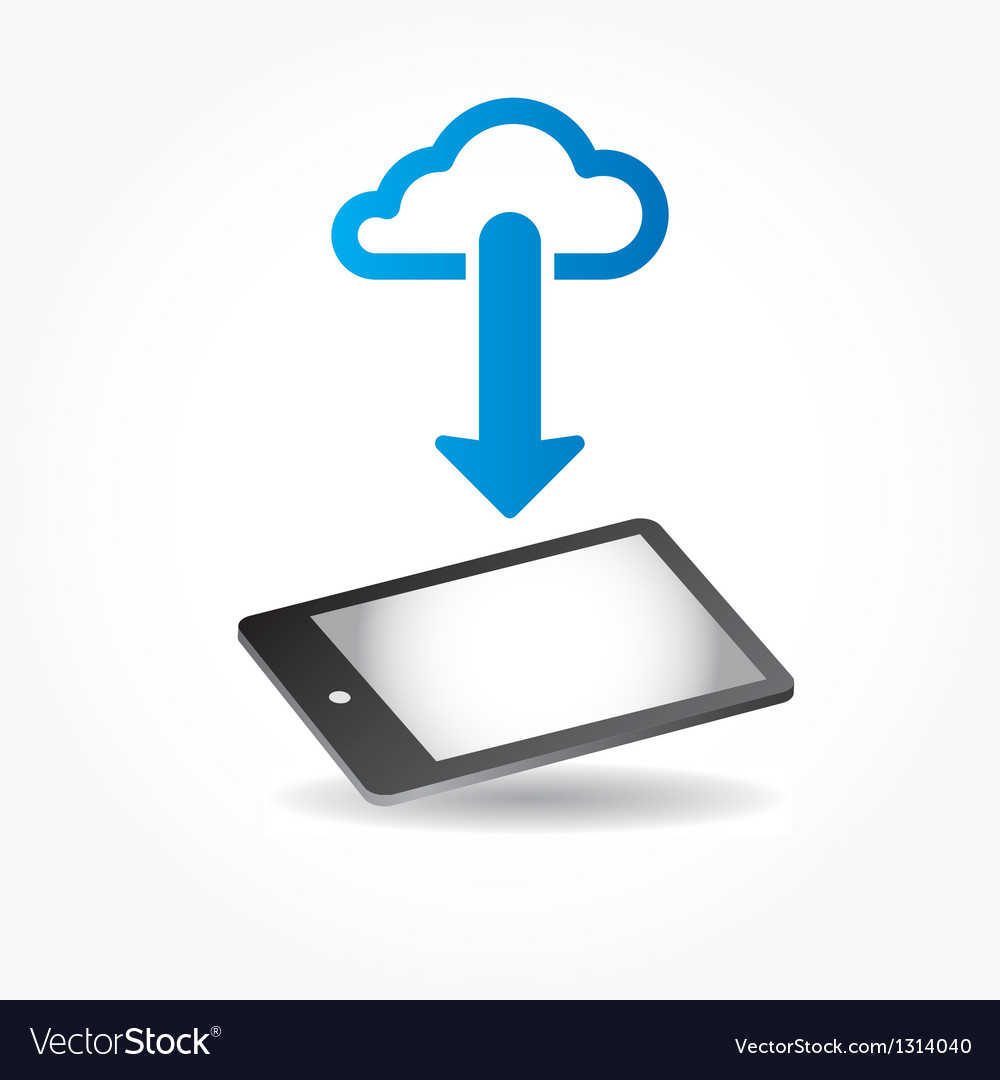 Cloud app icon on mobile phone vector   Price: 1 Credit (USD $1)