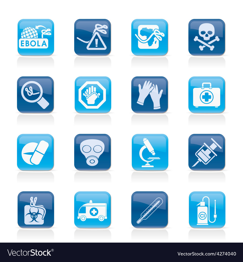Ebola pandemic icons vector   Price: 1 Credit (USD $1)