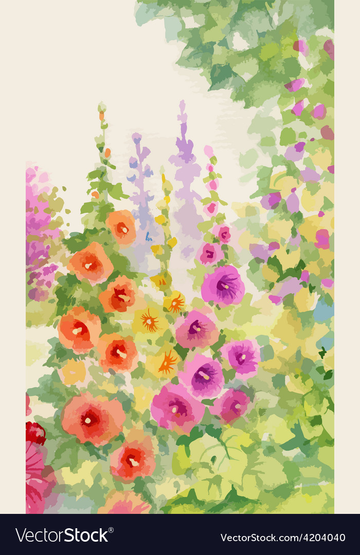 Foral decorative background vector | Price: 3 Credit (USD $3)