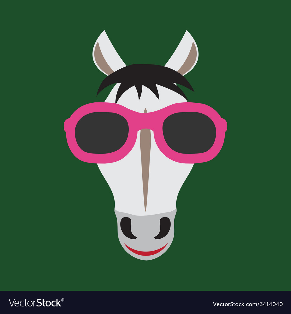 Horse glasses vector | Price: 1 Credit (USD $1)