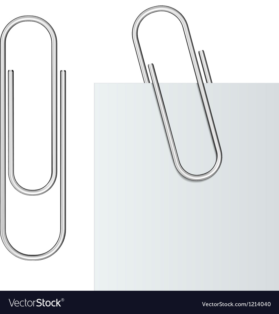 Metal paper clip vector | Price: 1 Credit (USD $1)