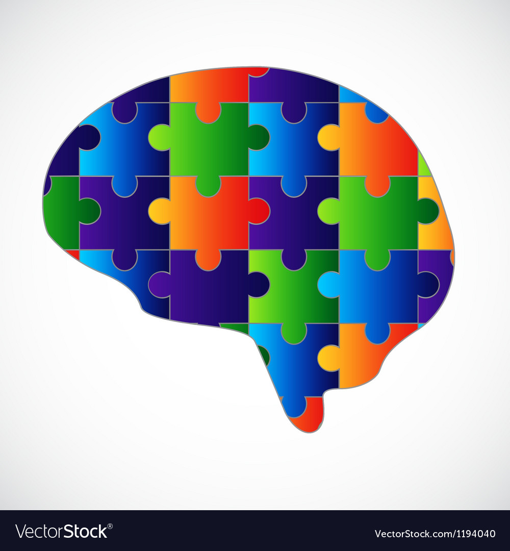 Mind puzzle vector | Price: 1 Credit (USD $1)