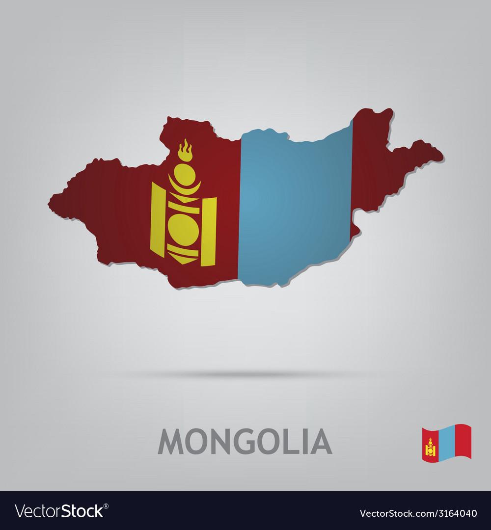 Mongolia vector | Price: 1 Credit (USD $1)