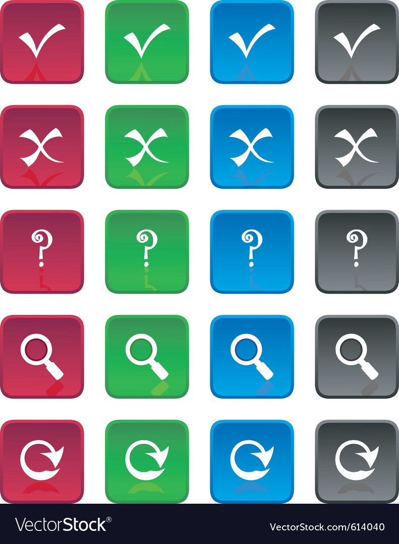 Square web buttons vector | Price: 1 Credit (USD $1)