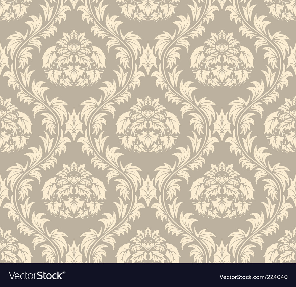 Vintage damask pattern vector | Price: 1 Credit (USD $1)