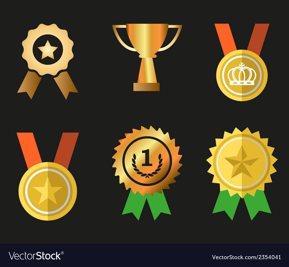 Awards icons symbol set vector | Price: 1 Credit (USD $1)