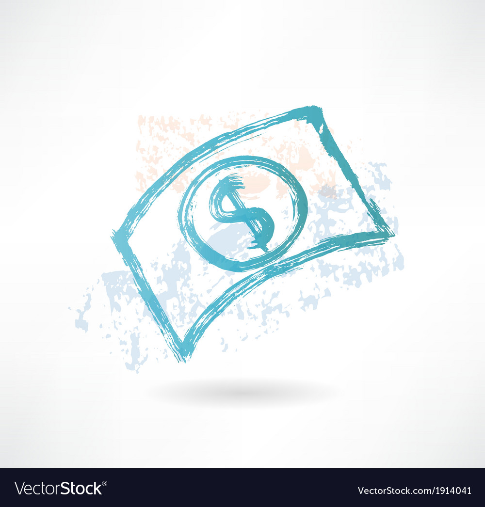 Brush paper dollar icon money vector | Price: 1 Credit (USD $1)