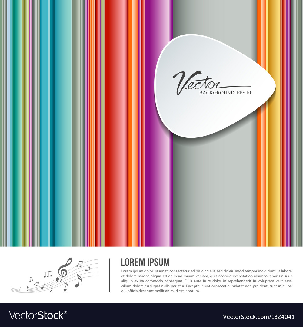 Colorful background pick music design vector | Price: 1 Credit (USD $1)