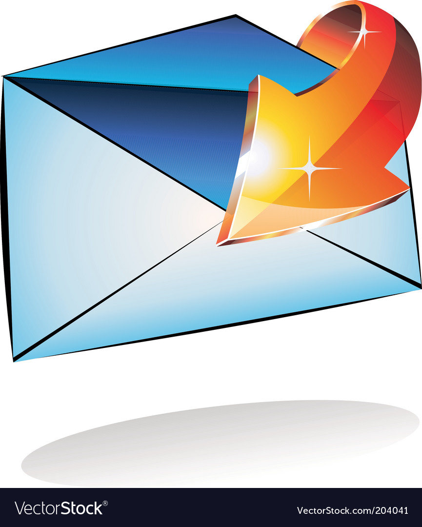 Email received vector | Price: 3 Credit (USD $3)