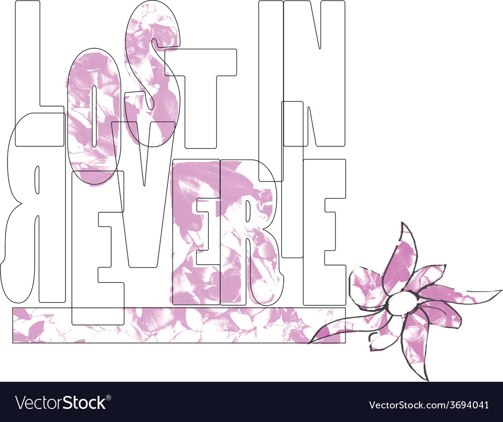Flowers type type flower flowers pink lost vector | Price: 1 Credit (USD $1)