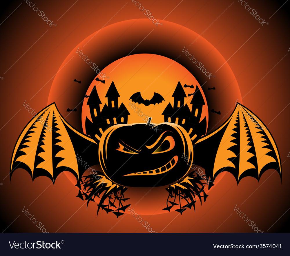 Halloween pumpkin label vector | Price: 1 Credit (USD $1)