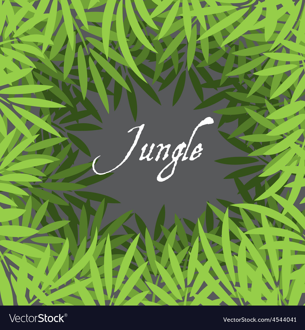 Jungle background vector | Price: 1 Credit (USD $1)