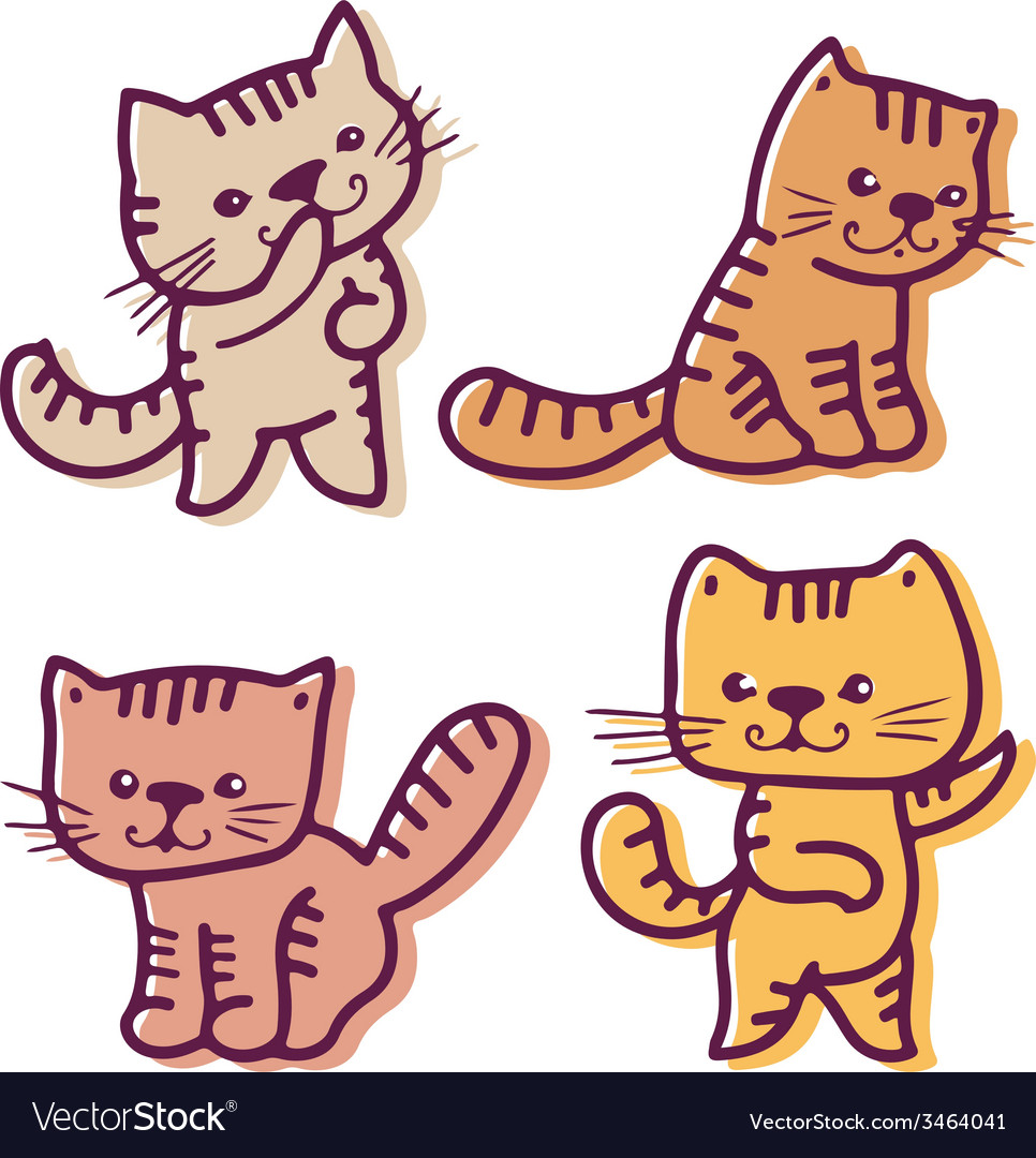 Kittens vector | Price: 1 Credit (USD $1)