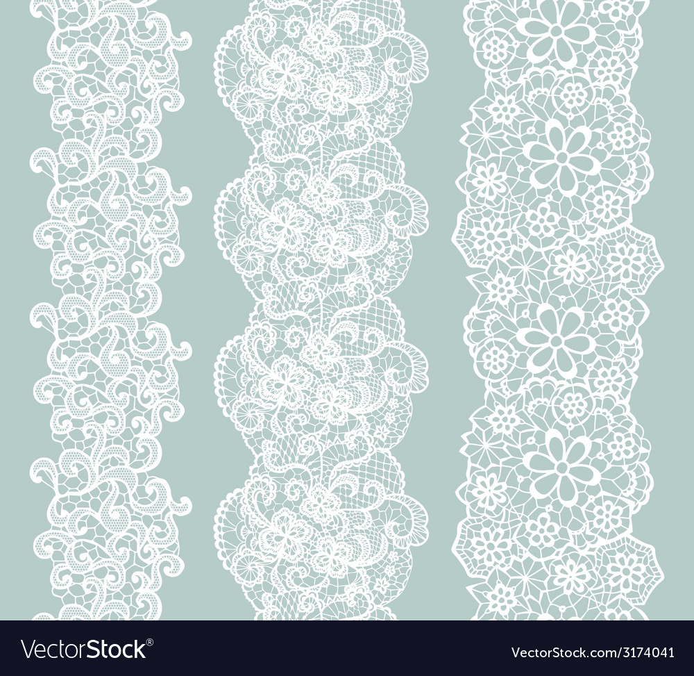 Lacy vintage trim set of white lacy vintage vector | Price: 1 Credit (USD $1)