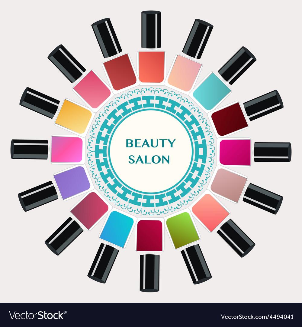 Nail polish bottles nails art vector | Price: 1 Credit (USD $1)