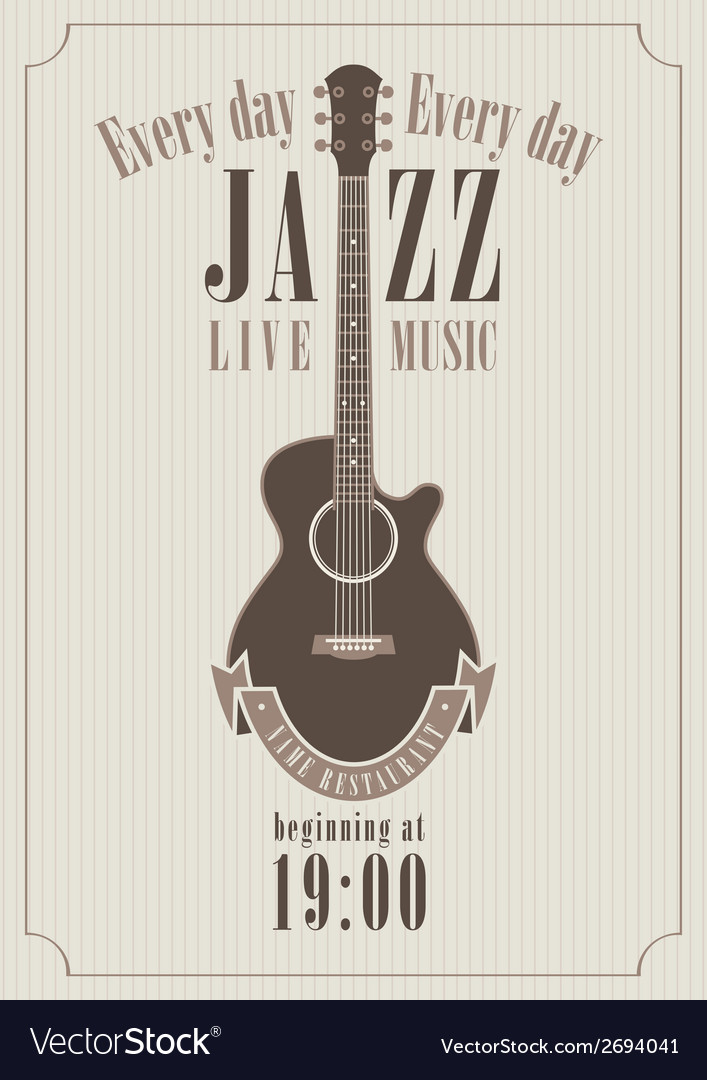 Poster for a jazz vector | Price: 1 Credit (USD $1)