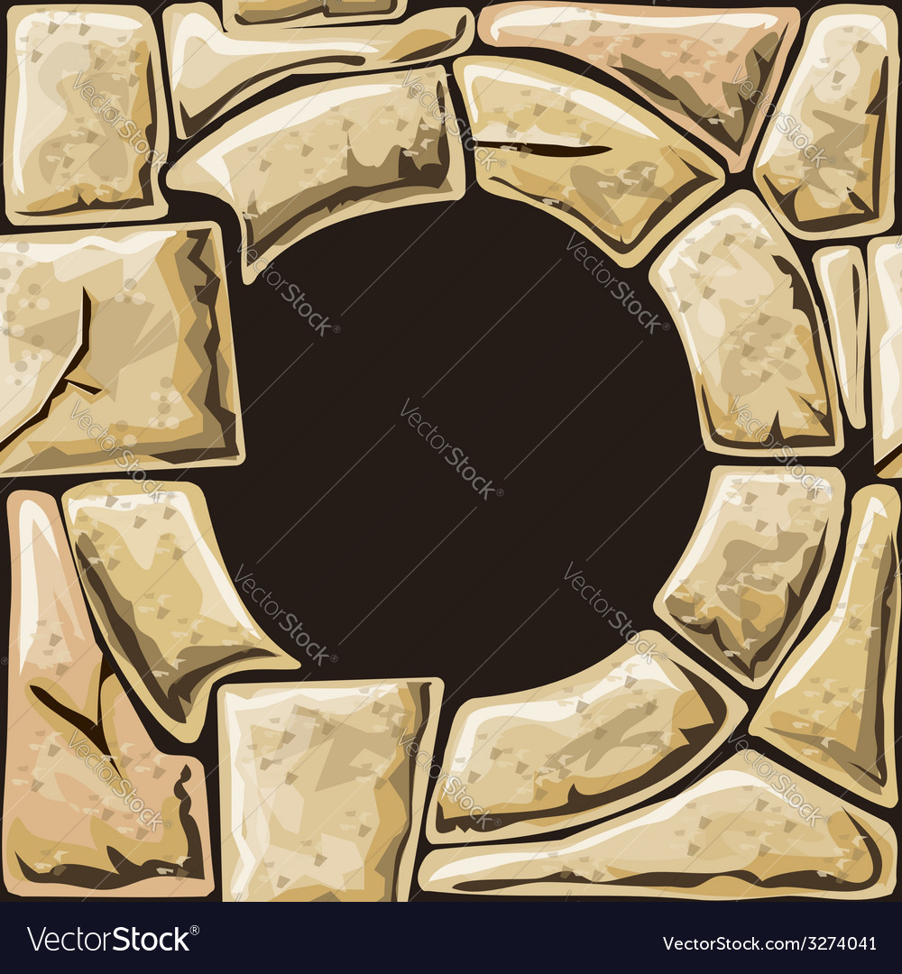 Round frame on stone seamless pattern vector   Price: 1 Credit (USD $1)