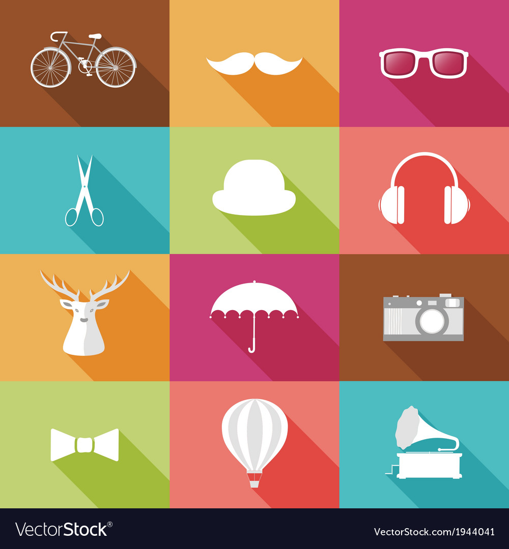 Set of hipster objects vector | Price: 1 Credit (USD $1)
