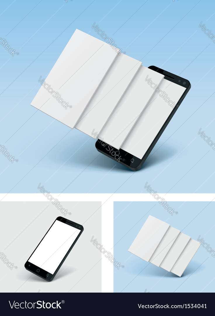 Smartphone icon with blank screens vector | Price: 3 Credit (USD $3)