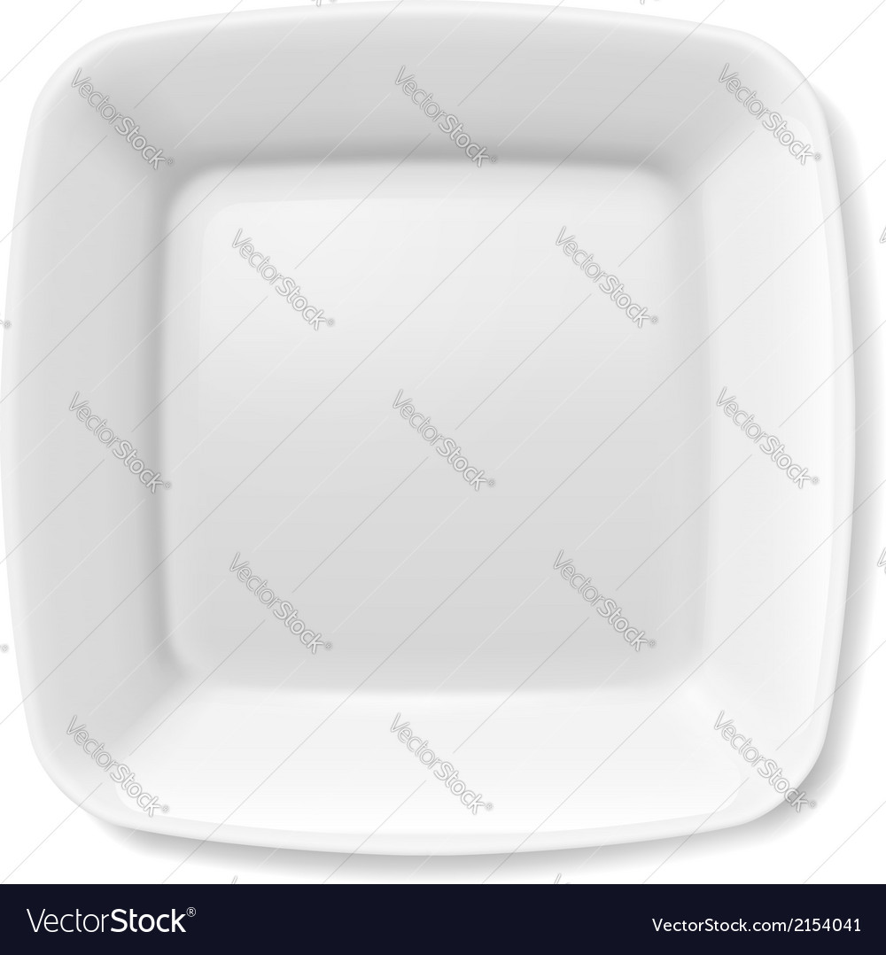 White plate vector | Price: 1 Credit (USD $1)