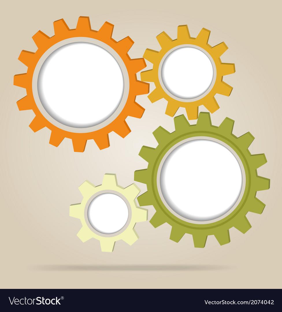 Abstract color gear wheels vector | Price: 1 Credit (USD $1)