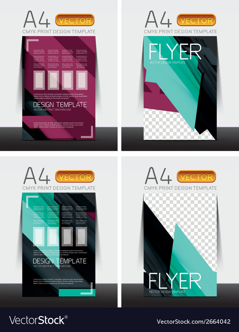 Abstract flyer - brochure templates set vector | Price: 1 Credit (USD $1)