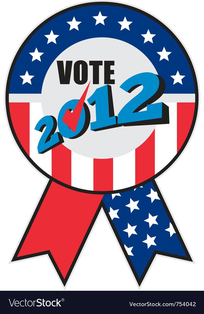 American election ribbon ballot vector   Price: 1 Credit (USD $1)