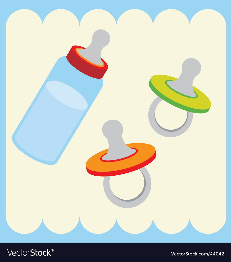 Baby bottle and dummy vector | Price: 1 Credit (USD $1)
