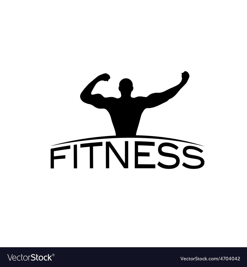 Bodybuilder fitness model silhouette design vector | Price: 1 Credit (USD $1)