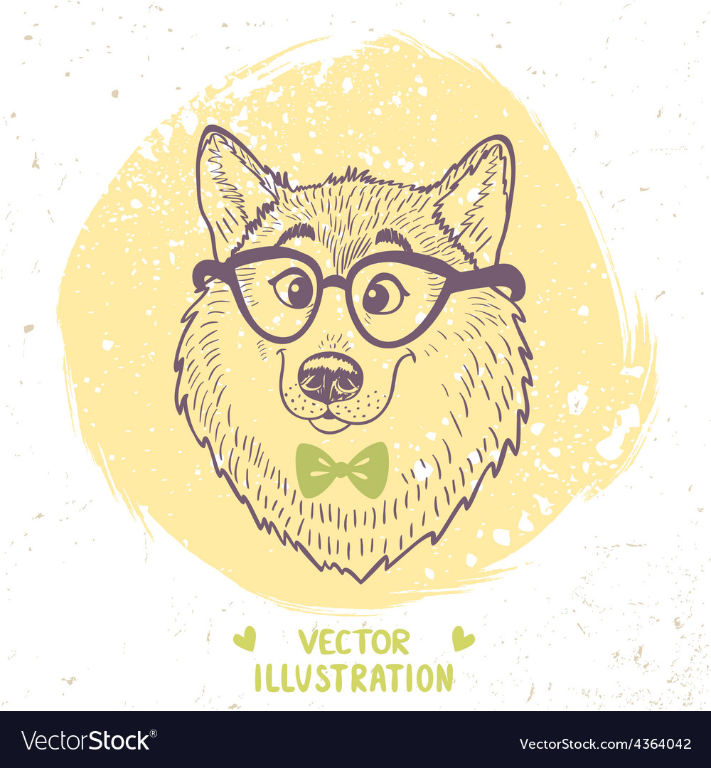 Dog stylish vector | Price: 1 Credit (USD $1)