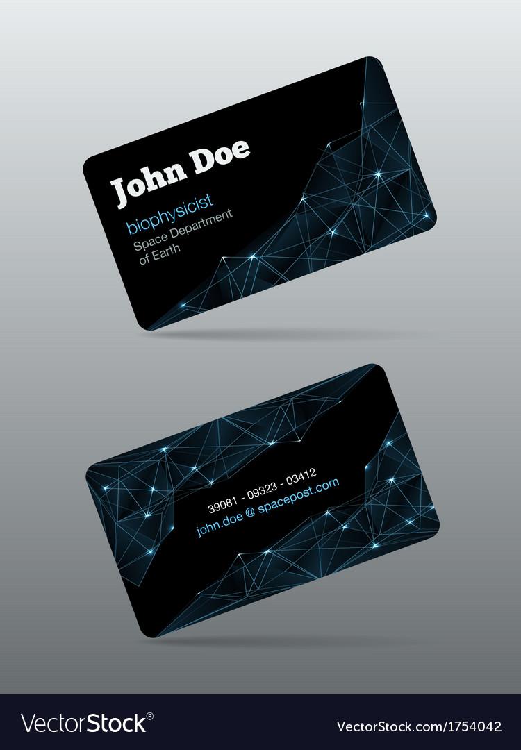Futuristic business card vector | Price: 1 Credit (USD $1)