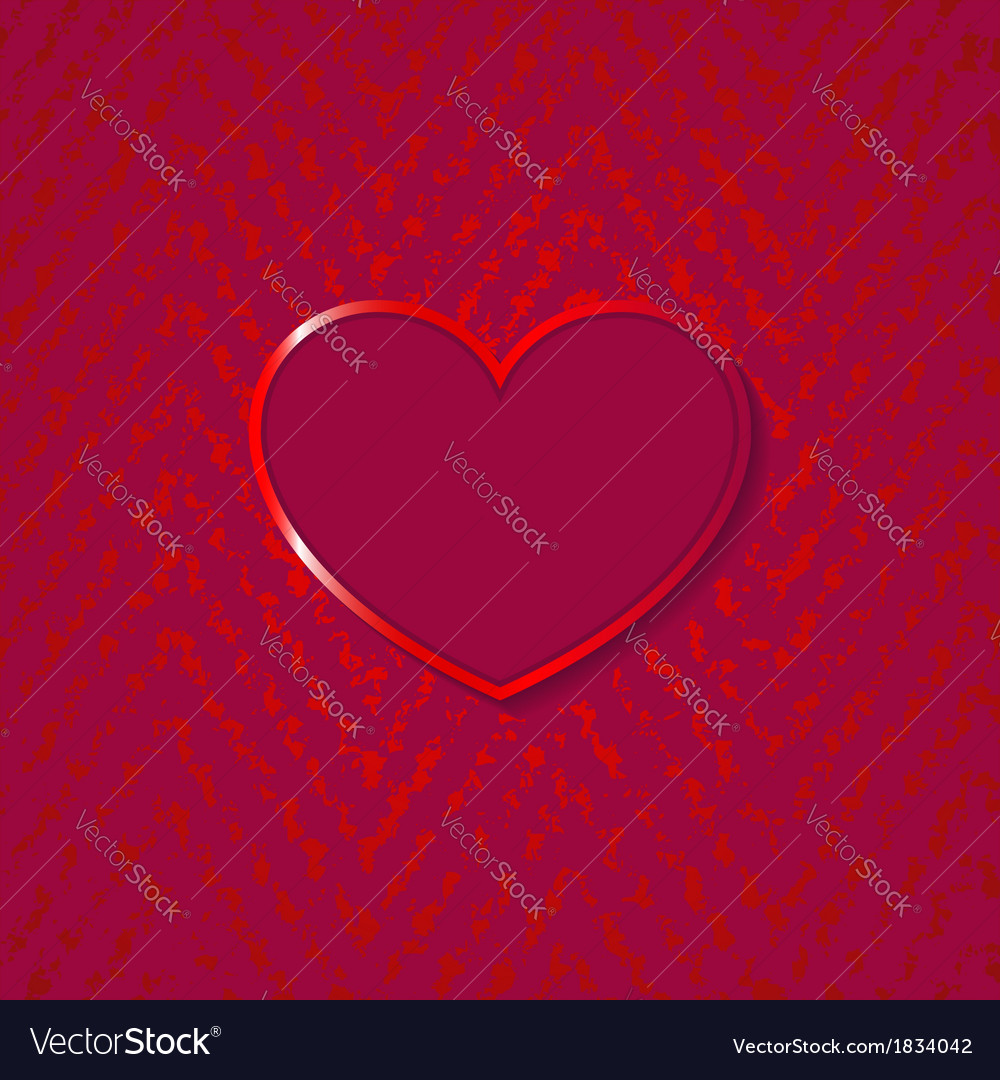 Heart for valentines day on grunge background vector | Price: 1 Credit (USD $1)