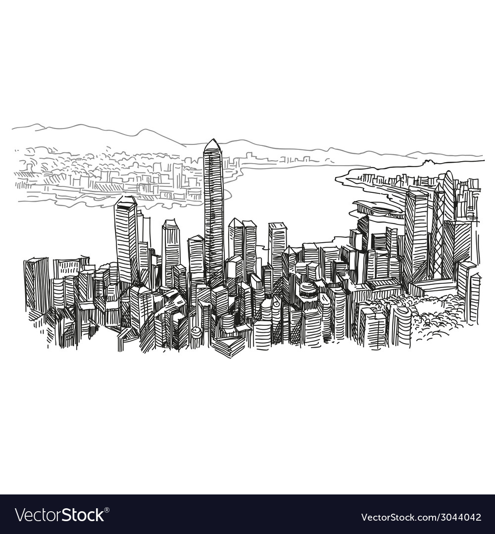 Hong kong drawing vector | Price: 1 Credit (USD $1)